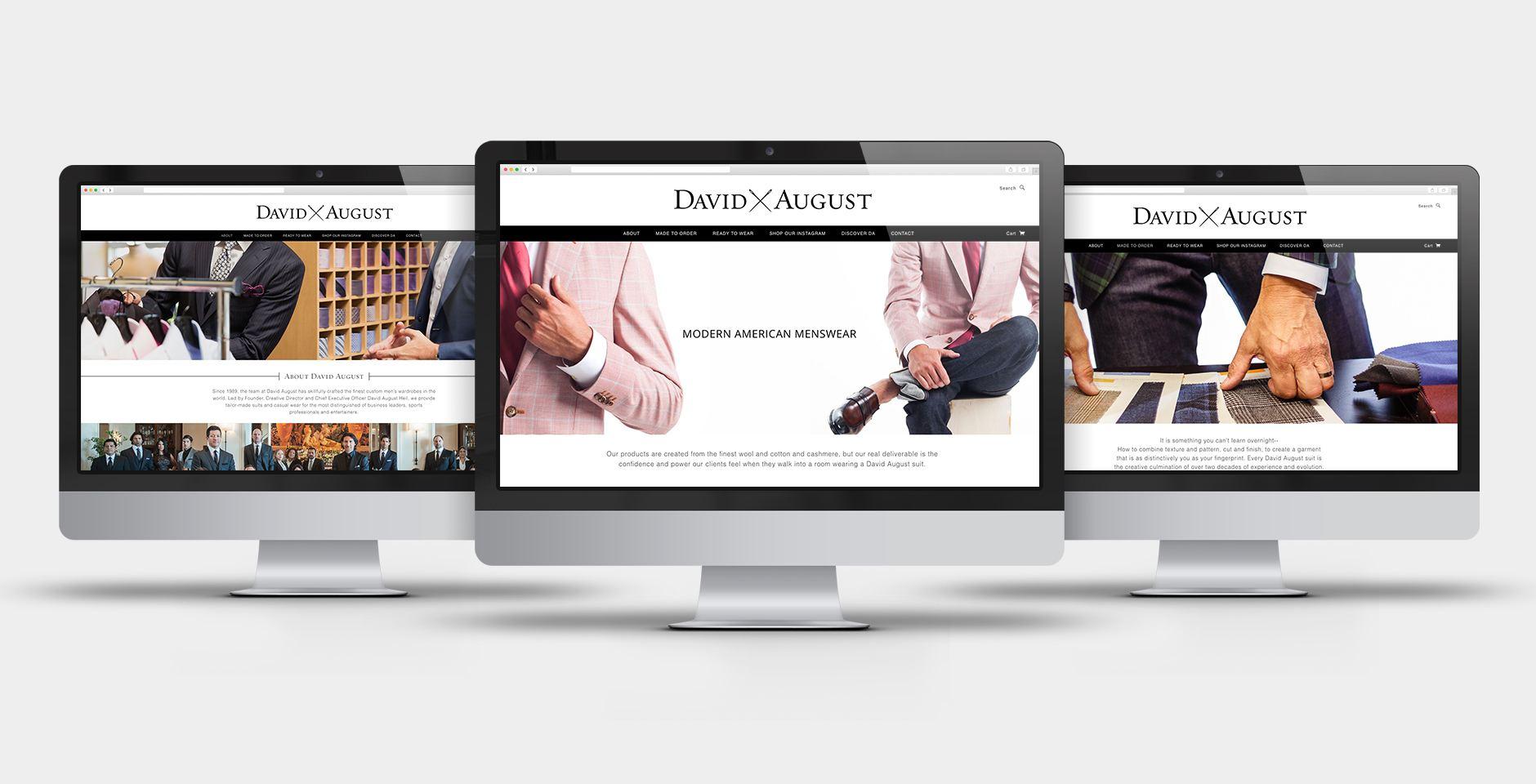 david august website refresh screengrabs