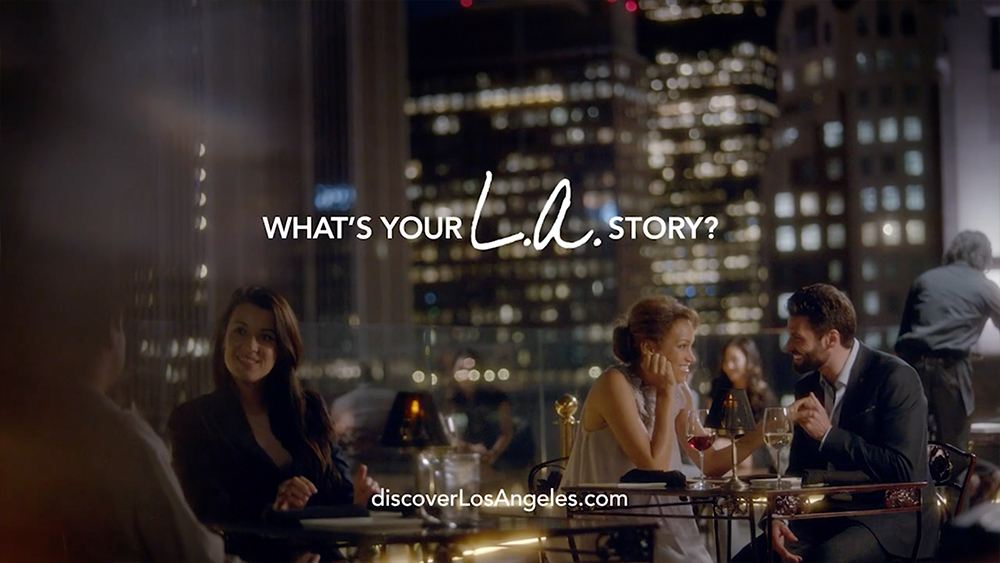 LA Tourism - LA Story Commercial The Proposal couple having dinner at perch los angeles