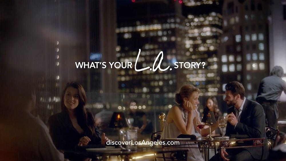 LA Tourism - LA Story Commercial The Proposal couple having dinner at perch los angeles