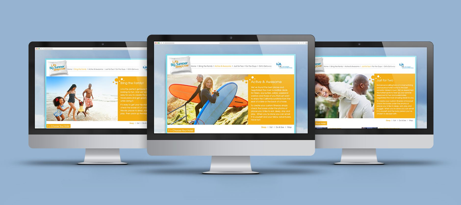 big summer sleepover itineraries landing pages los angeles