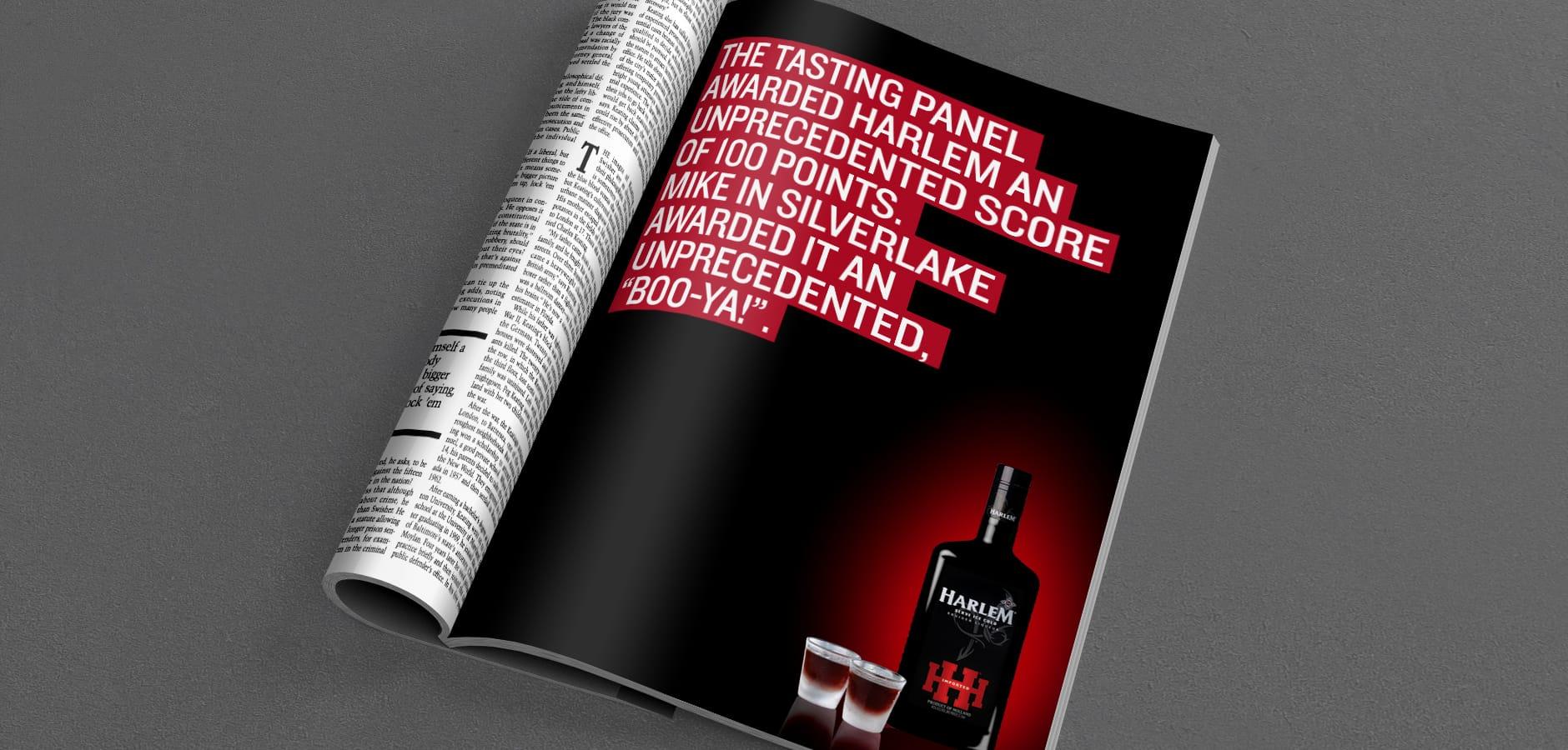 harlem liquer accolades print ad